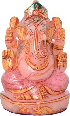 Rajasthali Arts Rose Ganesha Showpiece  -  12 cm