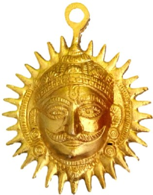Divine Temples Small Surya Devta Wall Decor Showpiece  -  11 cm