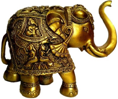 Divine Temples Beautiful Decorative Elephant Showpiece  -  11 cm