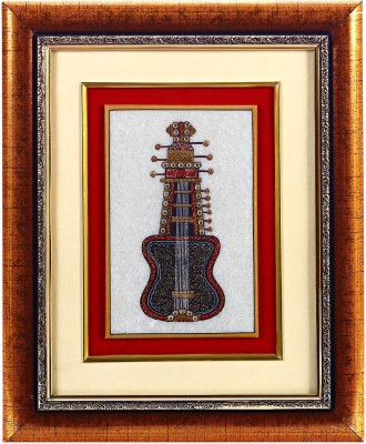 Aapno Rajasthan Sarangi Design Showpiece  -  28 cm(Stoneware, Wooden, Multicolor)