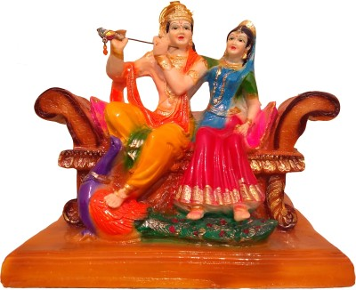Giftvalley Exclusive radha krishna with chair Showpiece  -  22 cm