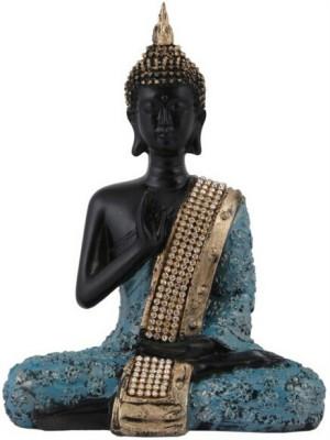 Divinecrafts Premium Gautam Buddha Showpiece  -  23 cm(Polyresin, Blue)