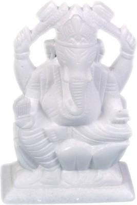 Avinash Handicrafts White alabaster Ganesha Showpiece  -  16 cm
