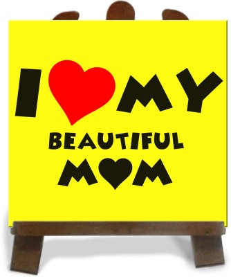 Tiedribbons Gifts For My Beautiful Mom Tile Showpiece  -  28 cm