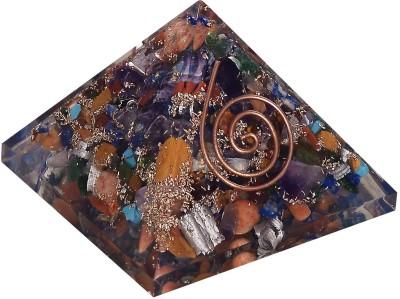 The Crystal Jewel Orgonite Pyramid Mix Colour Showpiece  -  4.5 cm