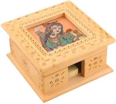 Halowishes 1 Compartments Wooden Visiting Card Box