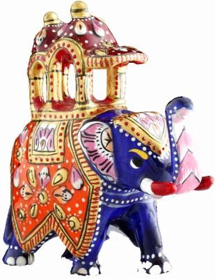 Aashirwad Ambabari Elephant Showpiece  -  6.5 cm