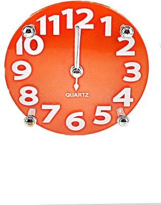 GiftsCellar Trannsparent Glass Clock Showpiece  -  10 cm