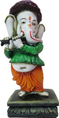 Speakfortune Pagdi Ganeha In Playing Bansuri Position-Religious Showpiece For Prosperity Showpiece  -  20 cm