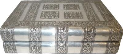 Bharat Haat Silver Oxsodiejwell Box Showpiece  -  8 cm