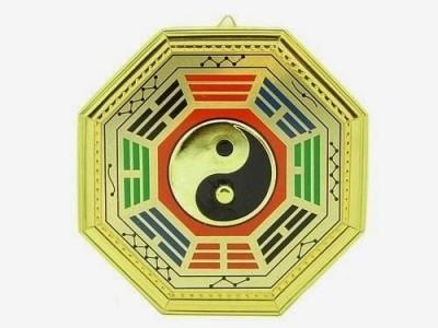 Vastughar Fengshui Yin Yang Bagua Showpiece  -  15 cm(Wooden, Multicolor)
