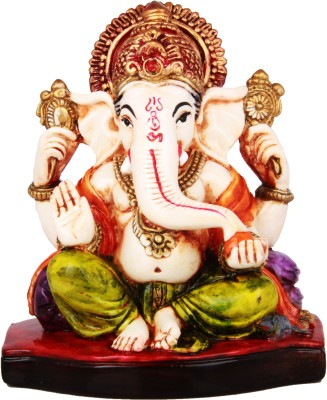 Adaa Lord Ganesha Sitting On Base Showpiece  -  11 cm