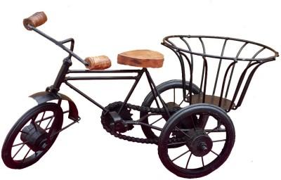 Divinecrafts Metal Tricycle With Basket Showpiece  -  15 cm
