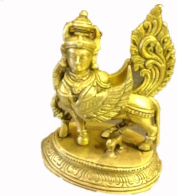 pratistha kamadhenu Showpiece  -  12 cm(Brass, Gold)