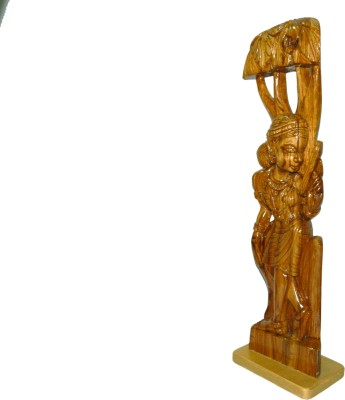 MadeInIndiaGallery Showpiece  -  58 cm(Wooden, Brown)