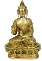 Bharat Haat Buddha Showpiece  -  13 cm(Brass, Yellow)