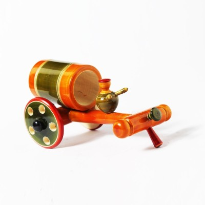 Jupiter Gifts And Crafts Bullock Cart Showpiece  -  7 cm