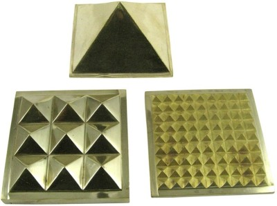 Vastughar Brass Multi Layer Pyramid Closed Set ( 1 Inch ) Showpiece  -  2.5 cm(Brass, Gold)