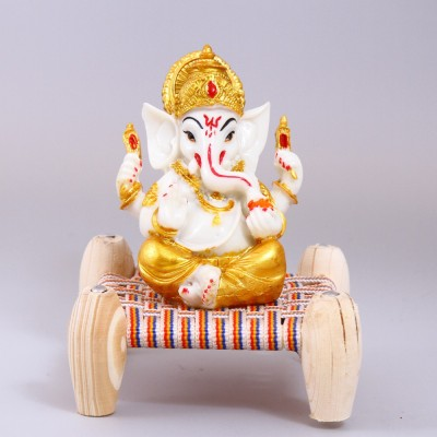 Creativity Creations Ganpati Ganesha Seated on Cord Showpiece  -  14 cm