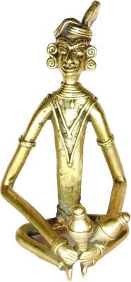 Rays Creative Art Musician Jhunjhunu (Brass) Showpiece  -  17.5 cm