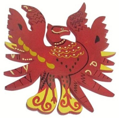 Plus Value Fengshui Red Phoenix - Symbol of Fame, Reputation & Recognition 4inches - Fengshui Remedies & Product Showpiece  -  10 cm(Wooden, Red)
