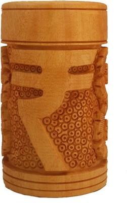 Divinecrafts Rupee Carved Pen Stand. Showpiece  -  10.16 cm
