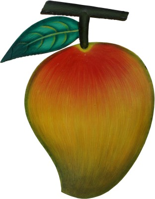 Parvidvap Handicrafts Mango Showpiece  -  20.32 cm(Wooden, Yellow)