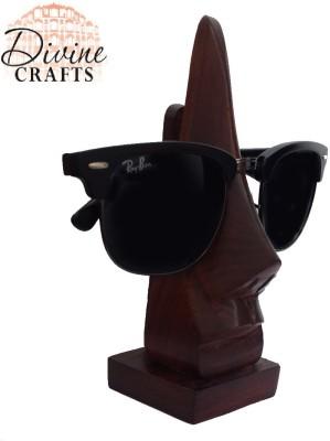 Divinecrafts Wooden Goggle Stand Showpiece  -  14.5 cm(Wooden, Brown)