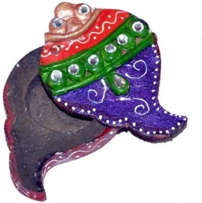 Chitra Handicraft Coin Box Showpiece  -  1 cm(Paper Mache, Multicolor)