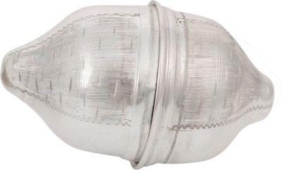Osasbazaar Pure Silver Nariyal Coconut - Purity Certified Showpiece  -  3 cm(Silver, Silver)