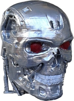 Unique Shape Terminator Robot Skull Showpiece  -  10 cm(Plastic, Steel)
