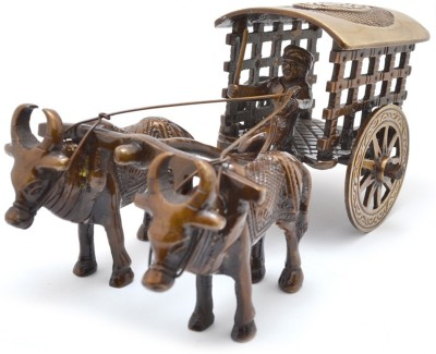 Aakrati Decorative Bull Cart Unique For Decoration Showpiece  -  7.62 cm