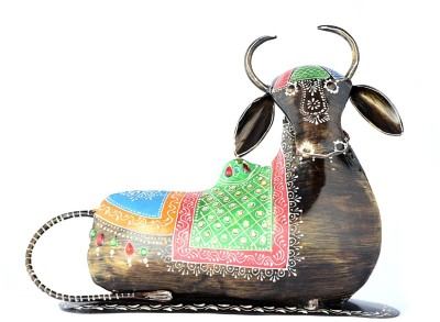 Arabian Nights Decorative Sitting Cow Showpiece  -  18.5 cm