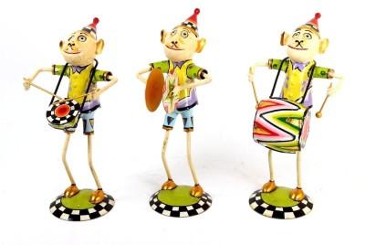 Shivay Arts Musician Monkeys Showpiece  -  28 cm