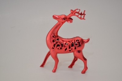 BMS Lifestyle Reindeer Red Showpiece  -  20 cm