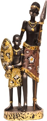 Oyedeal African Tribal Father and Son GFT393 Showpiece  -  21 cm
