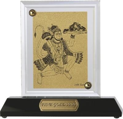 Aarya 24kt Hanuman Ji Crystal Showpiece  -  13 cm