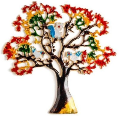 Being Nawab Wall Décor Handpainted 14 inch Tree Showpiece  -  34 cm