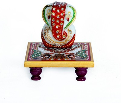 Traditional Rajasthan Meena Ganesh Chowki Showpiece  -  11 cm
