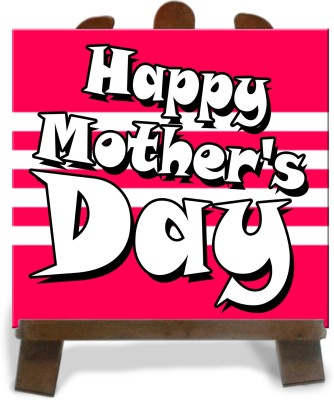 Tiedribbons Two Tone Happy Mothers Day Tile Showpiece  -  28 cm(Ceramic, Multicolor)