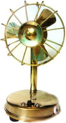 Homedesires Brass Fan Showpiece  -  16 cm(Brass, Gold)