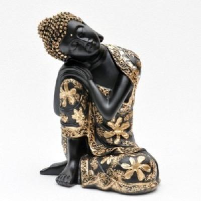 Ishita Handicrafts Resin Buddha Idol Showpiece  -  6 cm