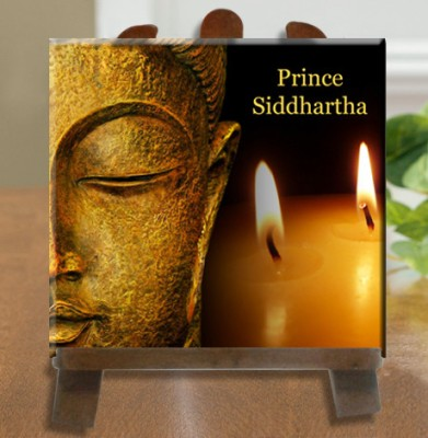 Tiedribbons Prince Siddhartha Murti Tile Showpiece  -  26 cm(Ceramic, White)