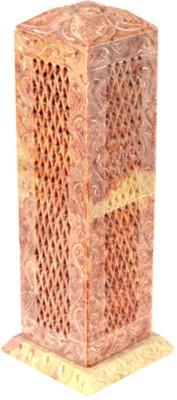 Kaku Overseas Marble Piller candle and Fragrance holder Showpiece  -  20 cm