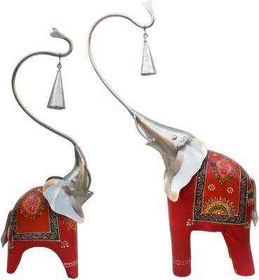 Indune Lifestyle Bell Elephant Set of Two Showpiece  -  40 cm
