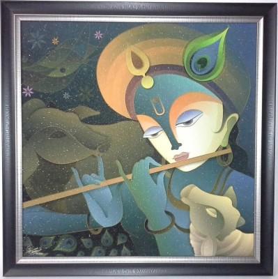 Advent Crafts Lord Krishna Showpiece  -  18 cm