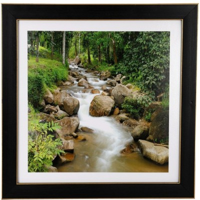 BM Traders Textured Forest River Wall Hanging Frame Showpiece  -  30.48 cm