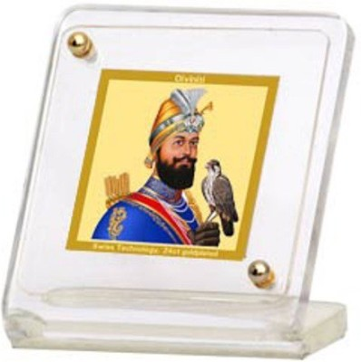 Sitare Guru Govind Swizz Made 24 kt Gold Foil Showpiece  -  6.0 cm