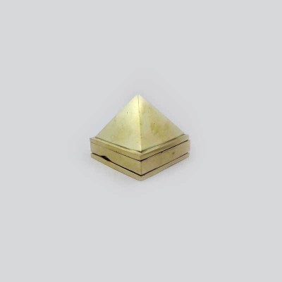 Sitare Premium 80 grams Small Fengshui Ashtadhatu Pyramid Vaastu for Health and Prosperity Showpiece  -  2.8 cm(Gold, Silver, Copper, Zinc, Iron, Gold)