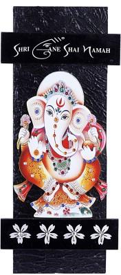 Lord Krishna Handicrafts Wooden Minakari Shree Ganesh Shai Namah Key Holder Showpiece  -  34 cm